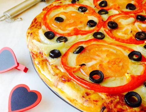 Pizza de Tomate e Pimento