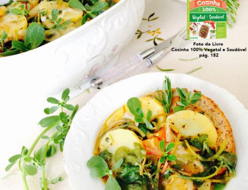 """Ensopado de Beldroegas – Receita do livro """"Cozinha 100% Vegetal e Saudável"""""""